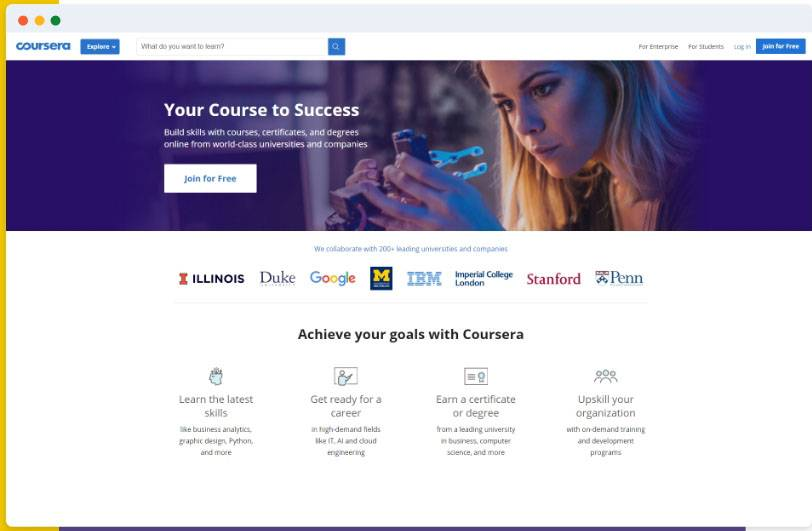 How to build an Elearning app or website like Coursera?