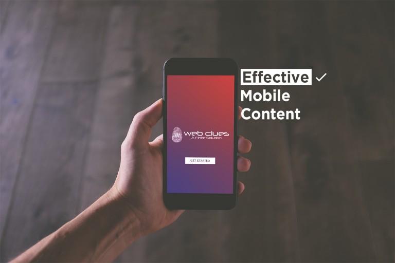 Effective Content - WebClues Infotech