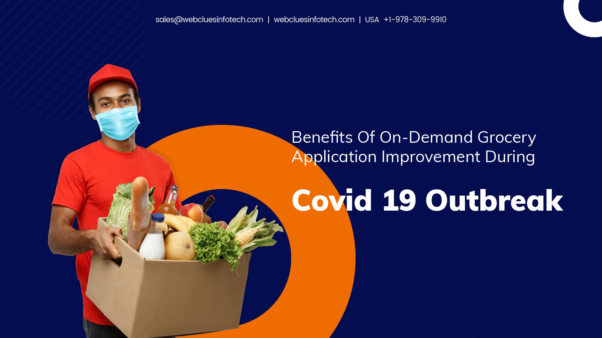 Benefits of On-Demand Grocery App Development During Covid-19 Outbreak | WebClues Infotech
